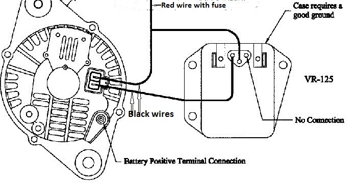 How To Make A External Voltage Regulator For Dodge Jeep Chrysler on 1966 ford pick up wiring diagram
