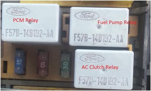ford taurus sable fuel trouble shooting 1996 to 1999 ford taurus fuel pump relay location