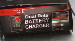 Turn Battery Charger  On