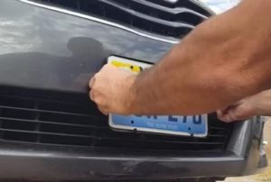 how-to-install-a-front-license-plate-toyota-camry-2009