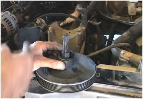 How To Remove a GM or Chevy Power Steering Pump Pulley 5