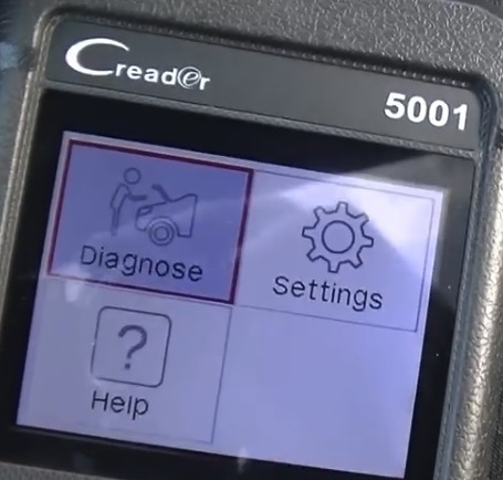 Review Launch CReader 5001 CAN OBD2 Scanner Diganose