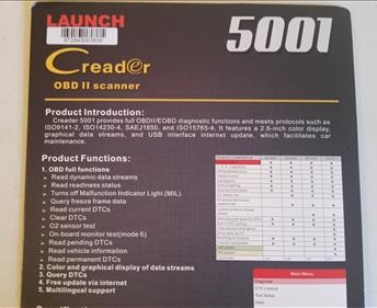 Review Launch CReader 5001 Specs
