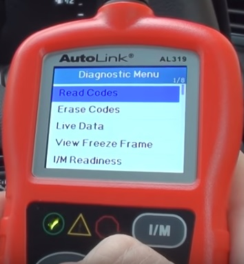 Review Autel Auto Link AL319 OBD2 Scanner Menu 2