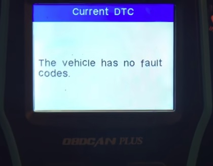 Review TOPDON Plus 2.0 Universal OBD2 Scan Tool Screen No Codes