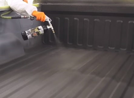 How To Spray On Bed Liner Into a Truck Bed DIY 10