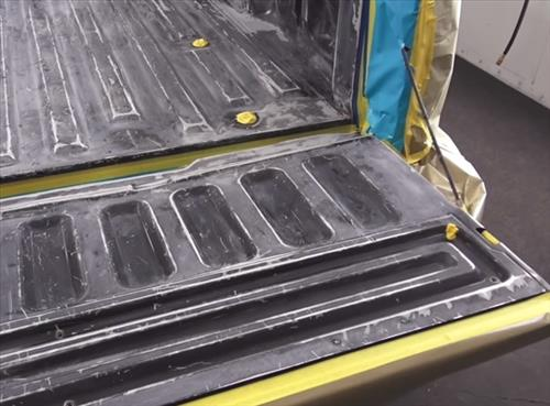 How To Spray On Bed Liner Into a Truck Bed DIY 4
