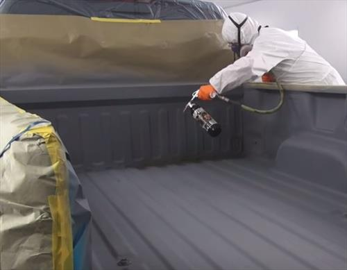 How To Spray On Bed Liner Into a Truck Bed DIY 9