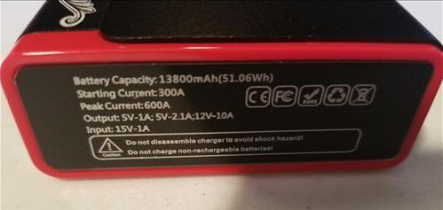 Review Audew Portable Emergency Vehicle Battery Jump Starter Power Bank Specs