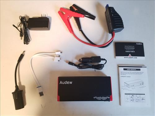 Review Audew Portable Emergency Vehicle Power Bank Battery Jump Starter ALL
