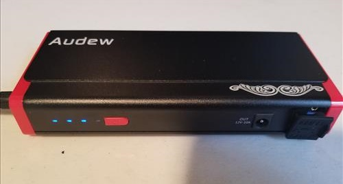 Review Audew Portable Emergency Vehicle Power Bank Battery Jump Starter Frount 2