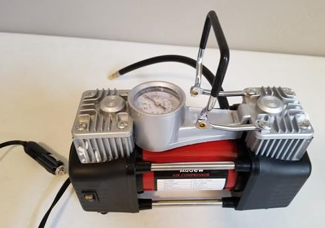 Review Audew Dual Cylinder 12 Volt Air Compressor Pump Unit