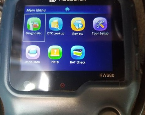 Review KW680 OBDII Automotive Car Truck Engine Scan Tool In Menu