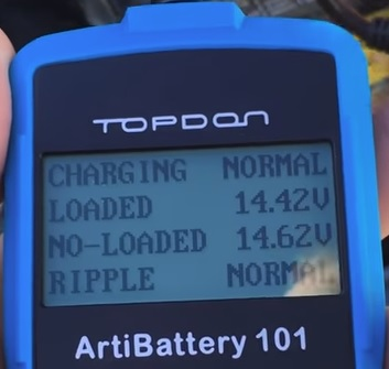 Review TT TOPDON ArtiBattery 101 Digital 12 Volt Battery Analyzer 2 Load Test