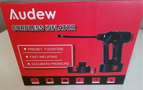 Review Audew Rechargeable Cordless Portable Air Pump Tire Inflator 12V 150 PSI
