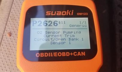 Review SUAOKI OM123 OBD II Scan Tool Codes