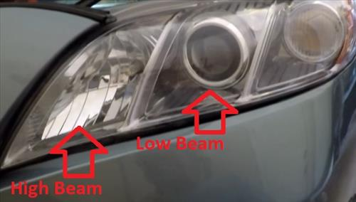 How To Replace a Headlight Bulb Toyota Camry 2007-2011 Low Beam High Beam Location