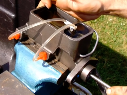 How To Bench Bleed a New Master Cylinder Step 6
