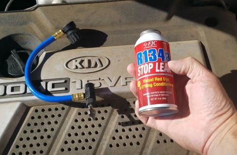How To Add Refrigerant on a 2005-2009 Kia Spectra Recharge the AC Stop Leak