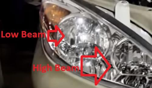 How to Replace Headlight Bulb 2001–2006 Toyota Camry Low High Beam Location
