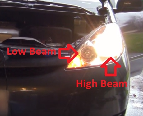 How to Replace Headlight Bulb 2003–2009 Toyota Sienna High Low Beam Location