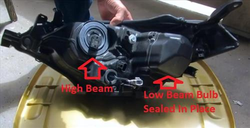 How to Replace Headlight Bulb 2015-2018 Toyota Corolla Headlight assembly