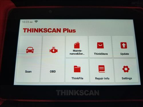 Review ThinkScan Plus S4 OBD2 Scanner Menu Options